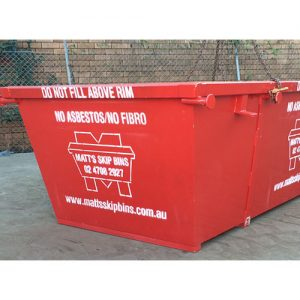 4m bin ready for delivery to Glenmore Park building site