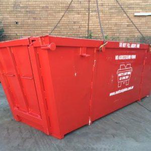 6 meter bin with wheelbarrow for Silverdale