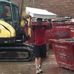 Matt Working and it is raining