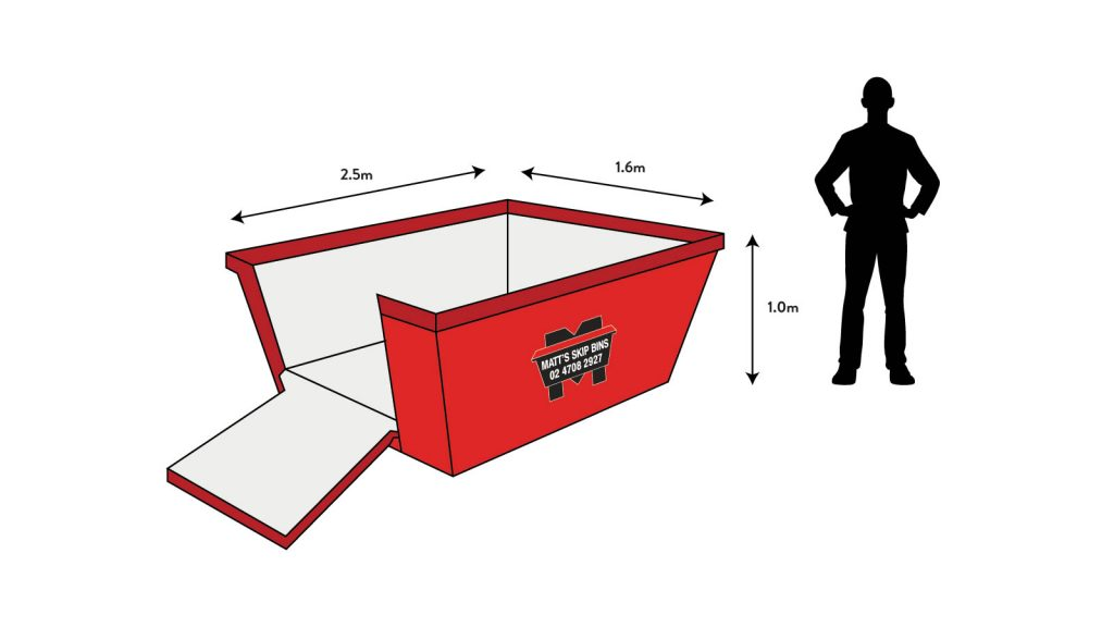 3 cubic metre skip bin in penrith and northern sydney