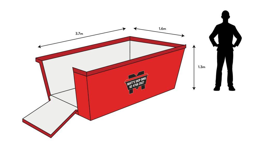 6m skip bin to hire in penrith/western sydney
