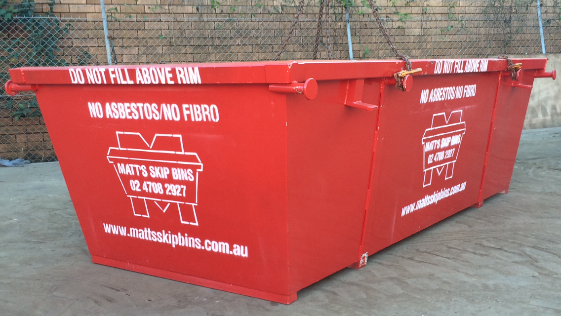 Why not all items are able to go in a skip bin