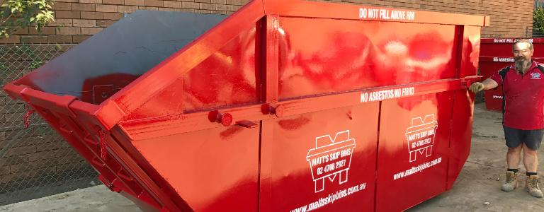 10 cubic metre skip bin