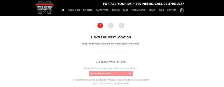 Book a bin online