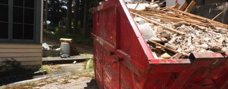 Mixed building waste skip bin