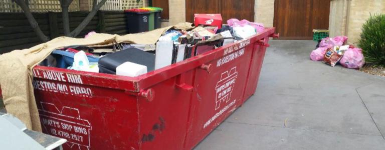 General waste skip bin
