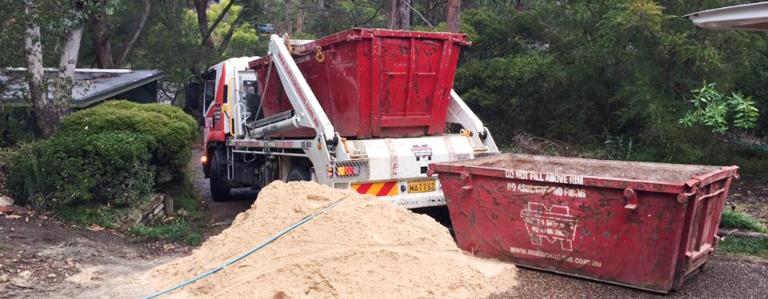 Skip bin delivery in Blaxland