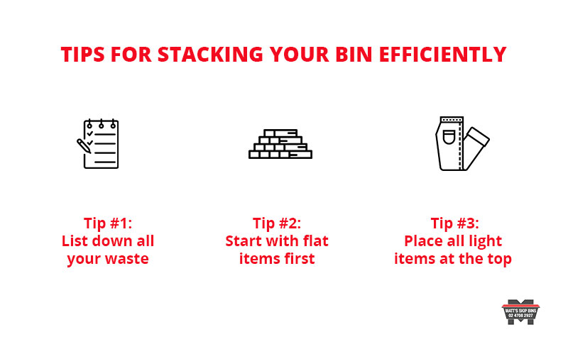 Tips for Stacking your bin efficiently