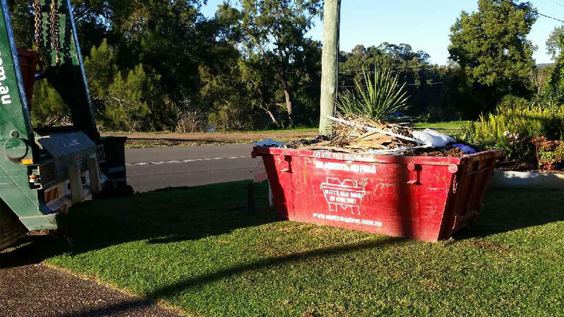 Bin placement: driveway or grass
